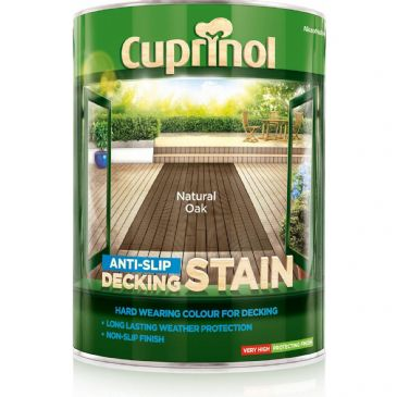 Cuprinol 5L Natural Oak decking stain
